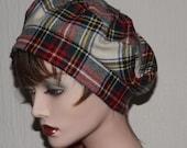 Reserved Item - Ladies Scottish Hat, Stewart Tartan Tam, Cloche, Beret