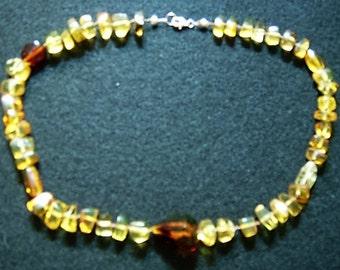Chiapas Amber Choker Necklace