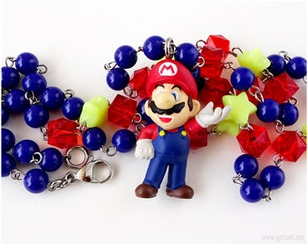 Mario Necklace, Gamer Gifts, Kawaii Jewelry, Super Mario Bros