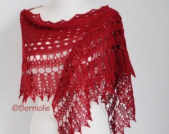 MILA, Crochet shawl pattern pdf