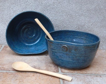 Soup, cereal, salad or noodle bowl hand thrown in stoneware pottery
