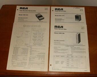 RCA Tape Recorder and Radio Service Manuals