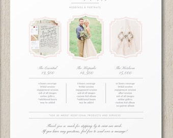 Photography Pricing Template - Photography Pricing Template - Photographer Pricing Guide - Customizable Price List - Photography Branding