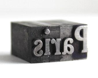 PARIS - 36pt Vintage Metal Letterpress