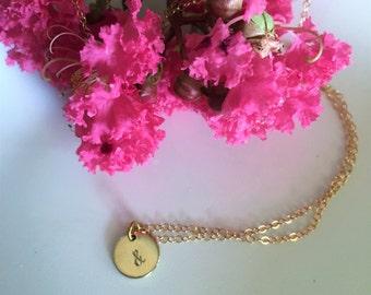 14k gold filled ampersand necklace