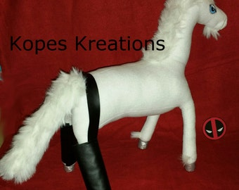 Deadpool Unicorn with Buttless Chaps Custom Handmade with much Love Plush
