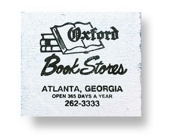Atlanta's Oxford Books rutic wooden sign 6 x 6
