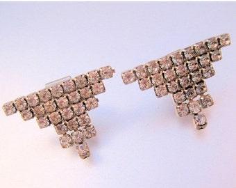 BIGGEST SALE of the Year Art Deco Rhinestone Shoe Clip Bridal Wedding Vintage Jewelry Jewellery