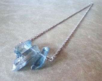 Blue Mystic Quartz Necklace