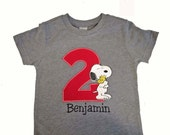 Embroidered Snoopy Birthday Shirt, Embroidered Snoopy Shirt, Camp Snoopy, Peanuts Birthday Personalized Birthday Shirt
