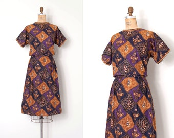 vintage 1960s dress / 60s batik cotton dress / Lee Lee #4