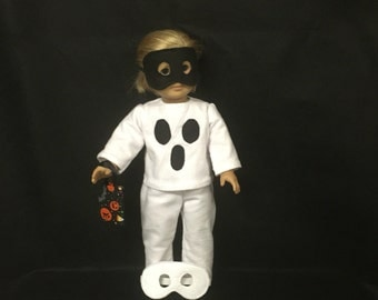 American Girl Doll Clothes or Some Other 18 Inch Doll Clothes, BOO, Halloween Ghost Ghoul Costume
