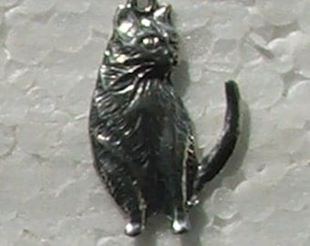 Tabby Cat Charm Light thin Lead free Nickel Free