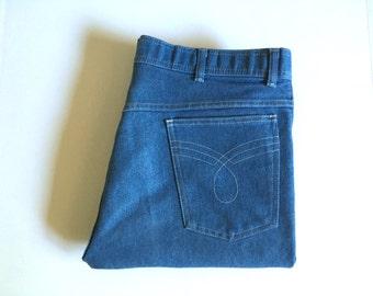 Vintage Men's 70's Jeans, Light Wash, Denim (W38xL32)