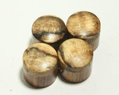 Set of 4 Rosewood Guitar Knobs with Spalted Maple Cap (3/4 inch dia x 11/16 height)