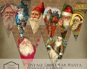 Vintage Santa Pennant Garland Printable Digital Download