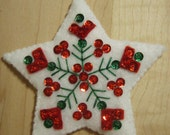 Bucilla Felt NORDIC STAR CHRISTMAS Ornament  from the Nordic Santa Collection
