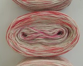 RED CONFETTI -- Sport Weight -- Cotton yarn (100 gr /320 yards)