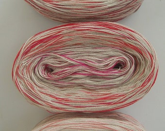 RED CONFETTI -- Sport Weight -- Cotton yarn (100 gr /320 yards)