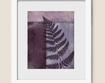 8 x 10 Art Print Nature Decor, Plum Wall Art, Lavender Bathroom Art, Living Room Print, Botanical Wall Decor   (447)