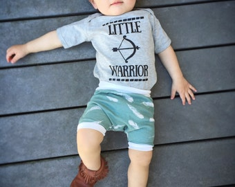 BOHEMIAN LINE - Little Warrior Bodysuit or Toddler Tee - Available in various colors and Sizes