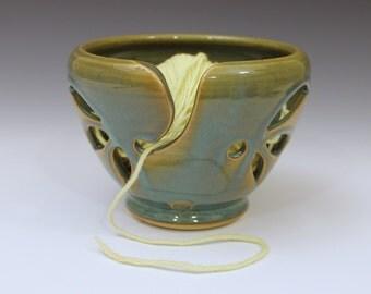Yarn Bowl / Knitting Bowl  -  Turquoise Glaze