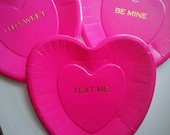 Plates hot stamped for valentines day - set of 10