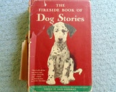 The Fireside Book of Dog Stories Edited by Jack Goodman Dust Jacket Map Dog Breeds of the World 1943 Lassie Come Home Vintage Book Dog Lover