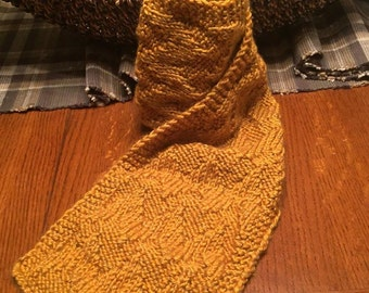 Hand Knit Autumn Scarf