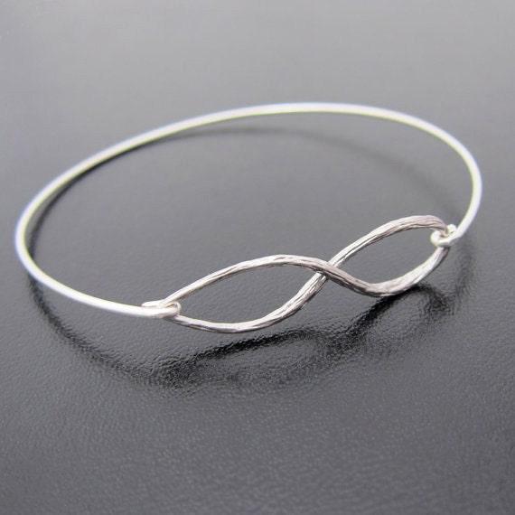 Infinity Bangle Bracelet, Silver Infinity Bracelet, Infinity Jewelry, Infinity Braclet, Silver Braclet, Silver Jewlery, Infinity Jewlery