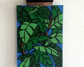 Banana Leaves - Original papercut art