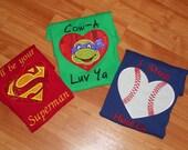 BOYS - Valentine applique Shirt -  ( Custom Order Item)