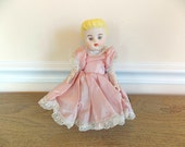 Vintage Porcelain Doll, Ceramic Doll, Vintage, Toy, Vintage Toy, DAMAGED, Parts, Supplies, Collectible Doll, Bisque Doll, Jointed Doll