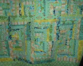 Twin size Quilt Teal 43