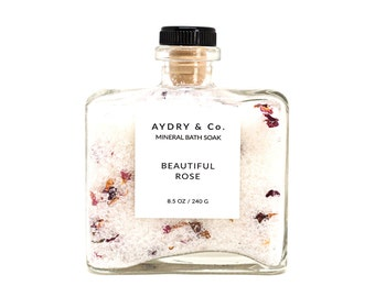 Beautiful Rose Mineral Bath Soak