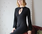 tunic night shirt or blouse with bishop sleeve and keyhole neckline - ICON bamboo sleepwear and lingerie range - made to order