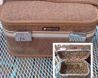 Vintage American Flyer tweed train case