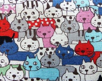 1 yard - Little cats, Kobayashi, Japanese import