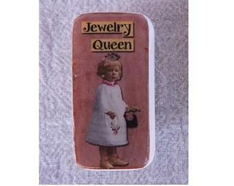 Domino Magnet Jewelery Queen Little Girl Child Vintage
