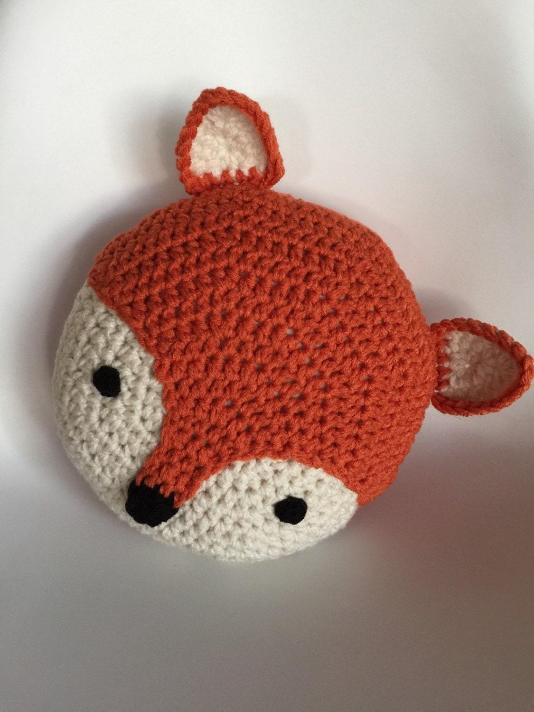 Crochet Fox Pillow by PeanutButterDynamite on Etsy