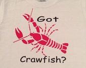 Infant and toddler Boys crawfish tshirt