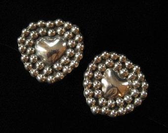 Mexican Sterling Silver Heart Earrings