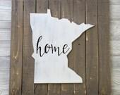 Minnesota Home Decor - Minnesota Pallet Decor - Minnesota Wall Hanging - State Sihouette - Wood Wall Decor - Rustic Wood Decor - Mothers Day