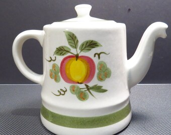 Stangl Pottery Apple Delight Tea Pot Vintage 1960s Serving Piece