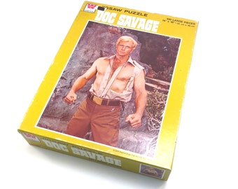 Sealed Doc Savage Movie Picture Puzzle Vintage 1970s Unopened Whitman Puzzle Family Game Night Cabin Decor