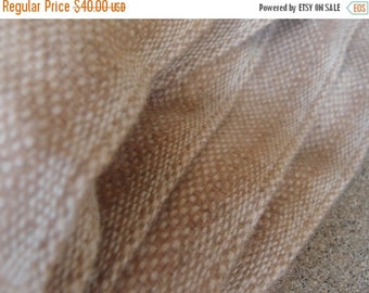 SALE SALE SALE Vintage Fabric Wool Tweed Camel Beige Neutral Fashion Suiting Yardage Sewing Supplies
