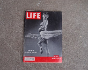 Vintage Life Magazine Photography January 25 1954 Diane Sinclair Dancers Jet Age Lions Fashion World News Advertising Ads