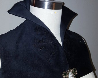 Elizabethan Costume:  Italian Over-Partlet Custom Drafted (MADE TO ORDER)
