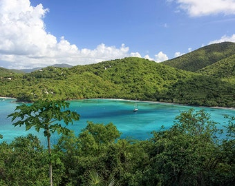 "Beach Photography ""Maho Bay"" St John USVI Photograph,  Affordable Caribbean Fine Art. Beach, Blue, Green, Paradise"
