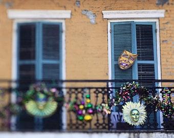 New Orleans Mardi Gras Photograph, French Quarter Art, Fat Tuesday Photo, Louisiana Home Decor, NOLA Print